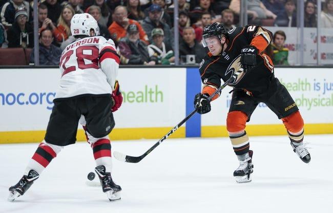 Anaheim Ducks vs. New Jersey Devils - 12/9/18 NHL Pick, Odds, and Prediction