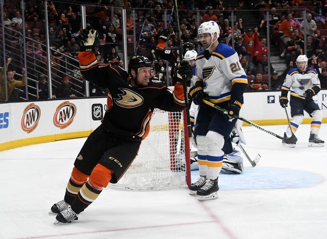 St. Louis Blues vs. Anaheim Ducks - 10/14/18 NHL Pick, Odds, and Prediction