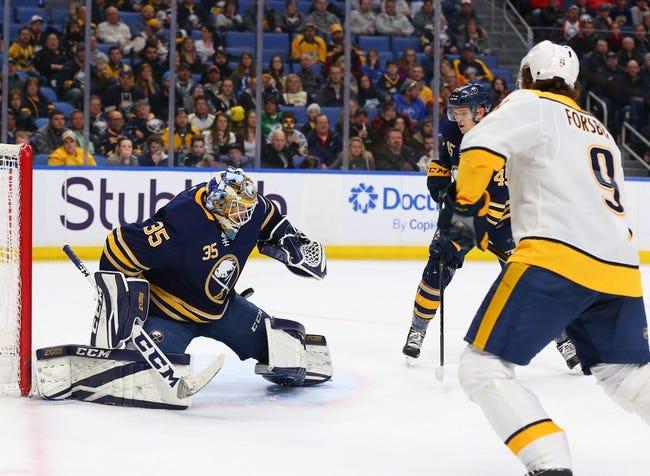 Nashville Predators vs. Buffalo Sabres - 3/31/18 NHL Pick, Odds, and Prediction