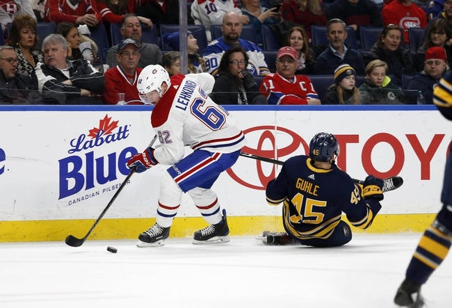 Buffalo Sabres vs. Montreal Canadiens - 10/25/18 NHL Pick, Odds, and Prediction