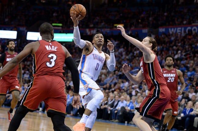 Miami Heat vs. Oklahoma City Thunder - 4/9/18 NBA Pick, Odds, and Prediction
