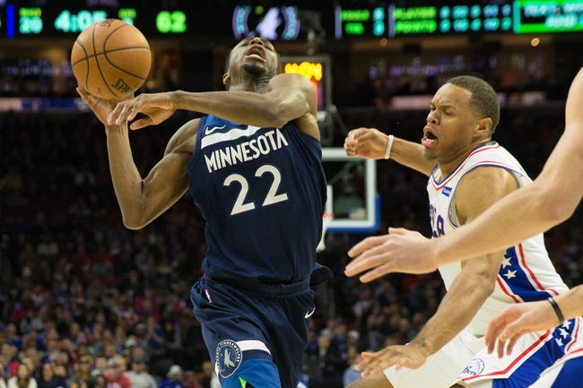 NBA   Minnesota Timberwolves at Philadelphia 76ers