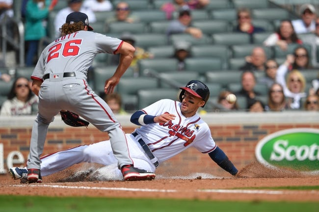 Washington Nationals vs. Atlanta Braves - 4/9/18 MLB Pick, Odds, and Prediction
