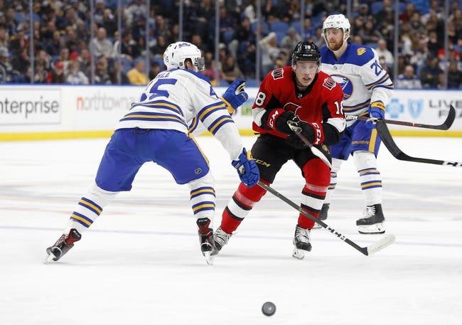 Ottawa Senators vs. Buffalo Sabres - 11/1/18 NHL Pick, Odds, and Prediction
