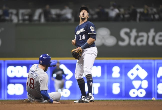 MLB   Chicago Cubs (2-3) at Milwaukee Brewers (4-2)