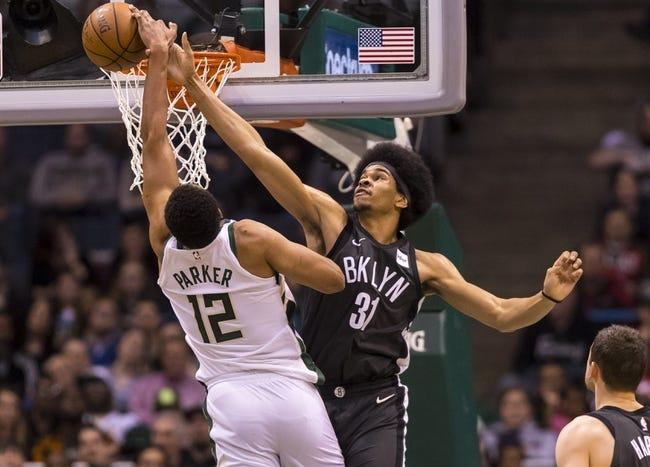 NBA   Brooklyn Nets (17-20) at Milwaukee Bucks (24-10)