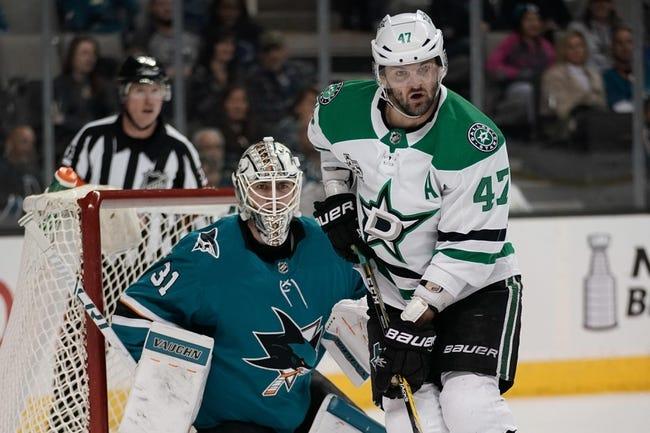 Dallas Stars vs. San Jose Sharks - 11/8/18 NHL Pick, Odds, and Prediction