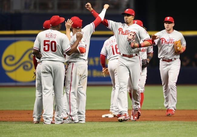Tampa Bay Rays vs. Philadelphia Phillies - 4/14/18 MLB Pick, Odds, and Prediction