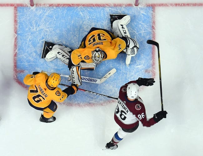 Colorado Avalanche vs. Nashville Predators - 4/16/18 NHL Pick, Odds, and Prediction