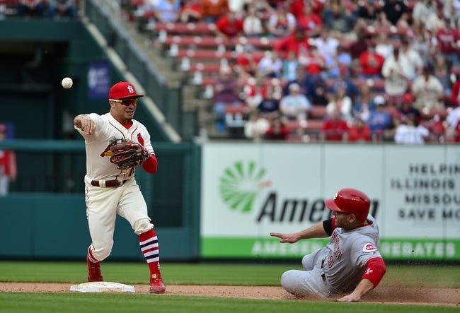 MLB   Cincinnati Reds (3-16) at St. Louis Cardinals (11-8)