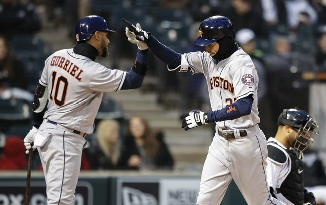 Chicago White Sox vs. Houston Astros - 4/22/18 MLB Pick, Odds, and Prediction