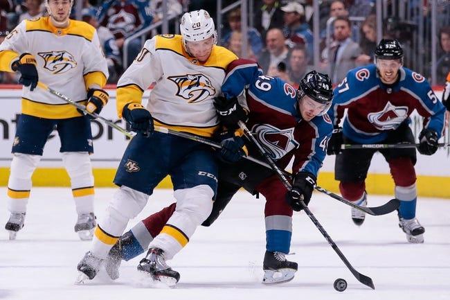 NHL | Nashville Predators (11-3-0) at Colorado Avalanche (7-4-3)