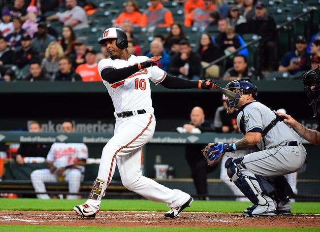 Baltimore Orioles vs. Tampa Bay Rays - 4/26/18 MLB Pick, Odds, and Prediction