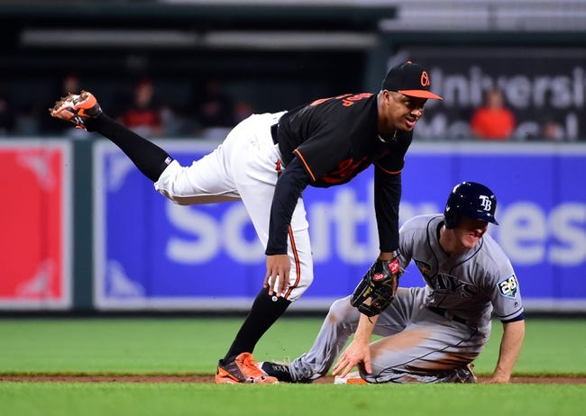 Baltimore Orioles vs. Tampa Bay Rays Game 1 - 5/12/18 MLB Pick, Odds, and Prediction