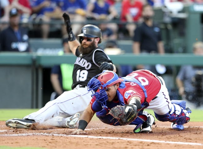 Texas Rangers vs. Colorado Rockies - 6/16/18 MLB Pick, Odds, and Prediction