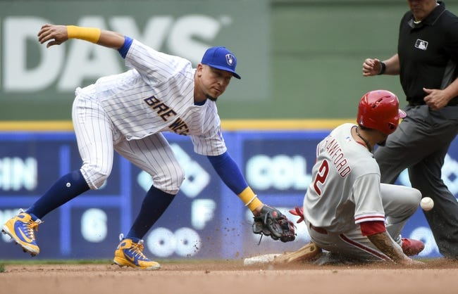 Milwaukee Brewers vs. Philadelphia Phillies - 6/17/18 MLB Pick, Odds, and Prediction