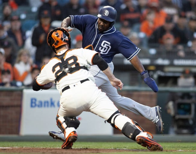 MLB   San Diego Padres (34-43) at San Francisco Giants (38-38)