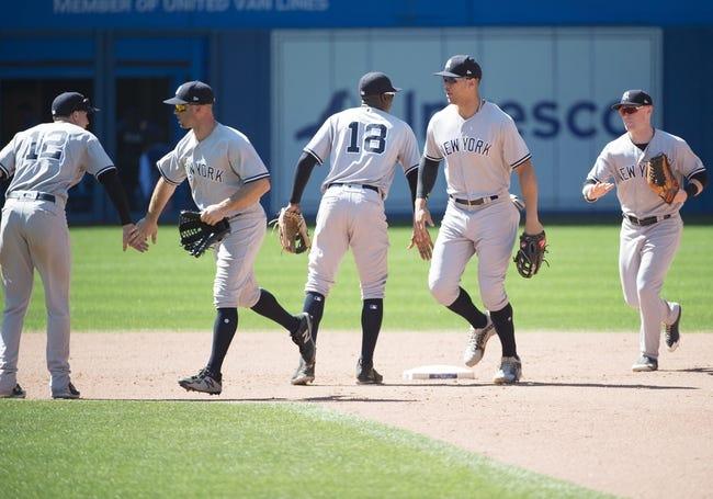 New York Yankees vs. Toronto Blue Jays - 8/17/18 MLB Pick, Odds, and Prediction