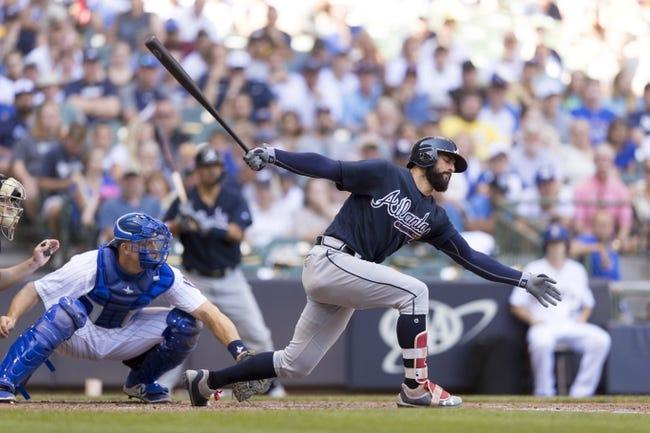 Atlanta Braves vs. Milwaukee Brewers - 8/10/18 MLB Pick, Odds, and Prediction