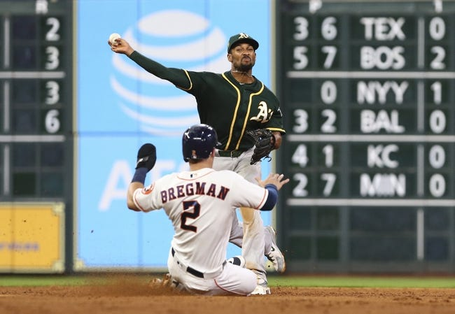 MLB   Oakland Athletics (50-40) at Houston Astros (61-31)