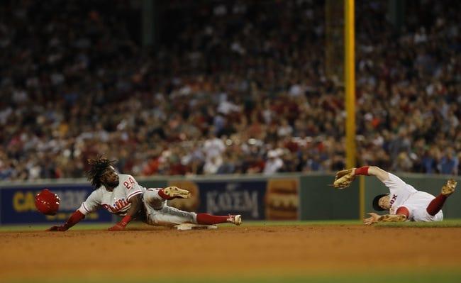 MLB   Philadelphia Phillies (58-48) at Boston Red Sox (75-33)