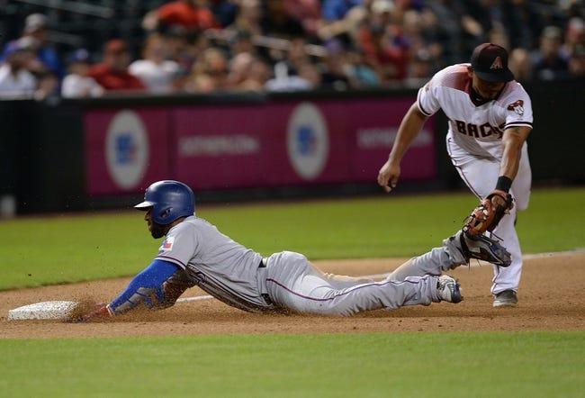 Arizona Diamondbacks vs. Texas Rangers - 7/31/18 MLB Pick, Odds, and Prediction