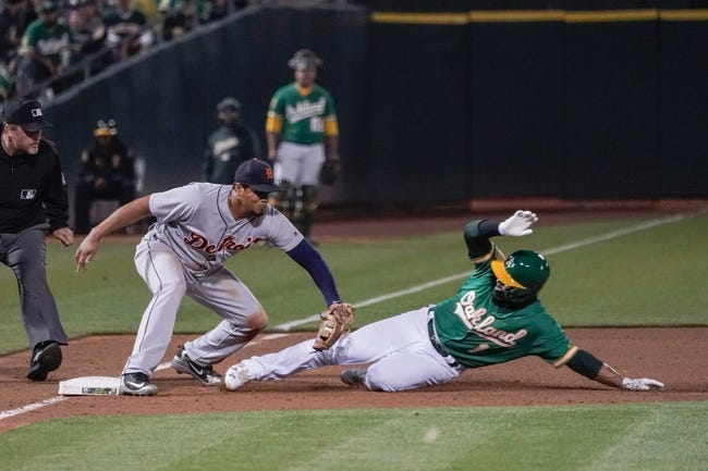 MLB | Detroit Tigers (47-63) at Oakland Athletics (65-46)
