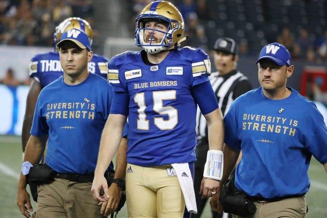 Winnipeg Blue Bombers vs. Calgary Stampeders CFL Pick, Odds, Prediction - 10/26/18