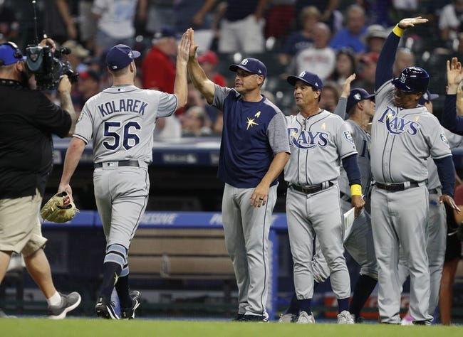 Cleveland Indians vs. Tampa Bay Rays - 9/2/18 MLB Pick, Odds, and Prediction
