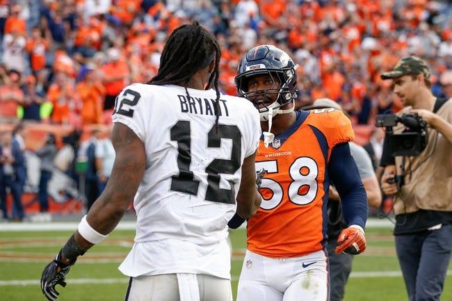 Denver Broncos at Oakland Raiders - 12/24/18 NFL Pick, Odds and Prediction