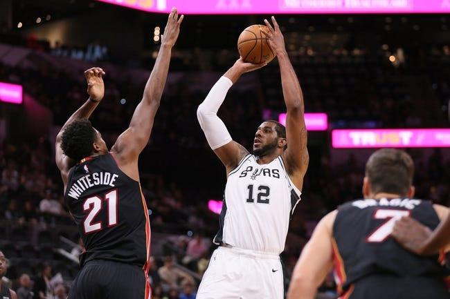 Miami Heat vs. San Antonio Spurs - 11/7/18 NBA Pick, Odds, and Prediction