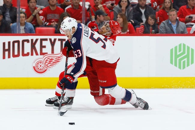 Columbus Blue Jackets vs. Detroit Red Wings - 10/30/18 NHL Pick, Odds, and Prediction