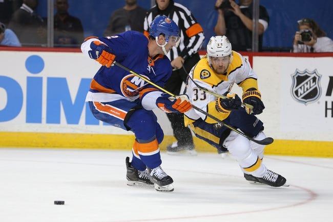 Nashville Predators vs. New York Islanders - 10/13/18 NHL Pick, Odds, and Prediction
