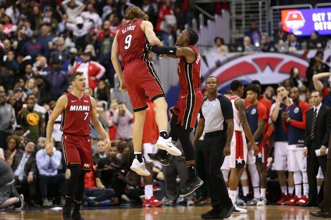 Miami Heat vs. Washington Wizards - 11/10/18 NBA Pick, Odds, and Prediction
