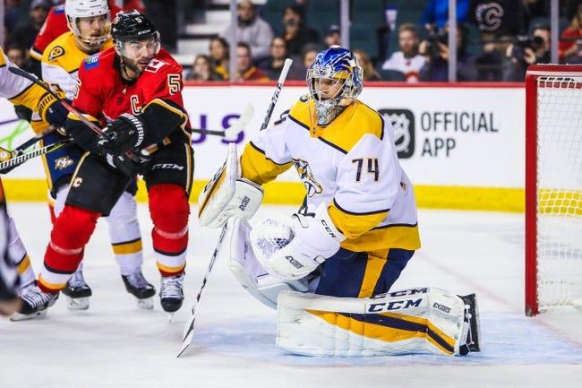 Calgary Flames vs. Nashville Predators - 12/8/18 NHL Pick, Odds, and Prediction