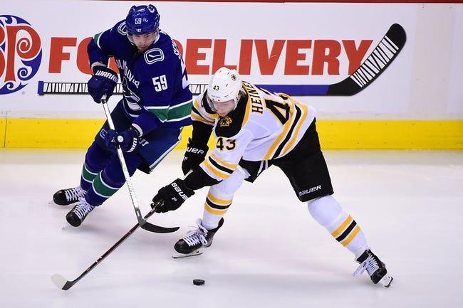 Boston Bruins vs. Vancouver Canucks - 11/8/18 NHL Pick, Odds, and Prediction