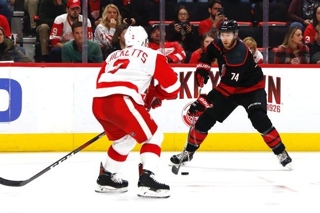 NHL | Detroit Red Wings (14-16-5) at Carolina Hurricanes (14-13-5)