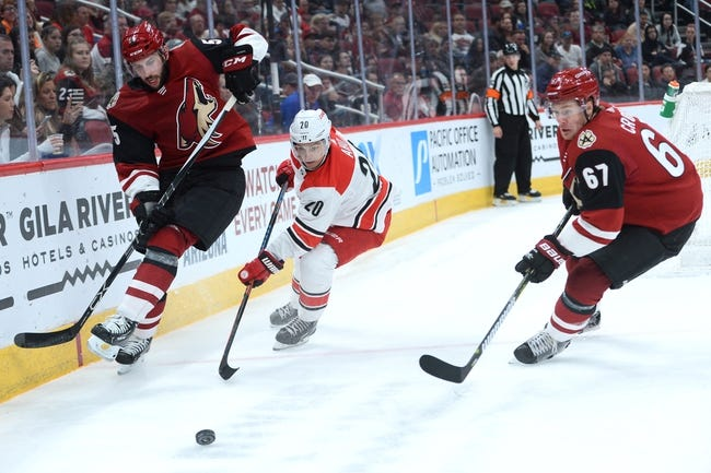 NHL | Arizona Coyotes (14-15-2) at Carolina Hurricanes (13-13-5)