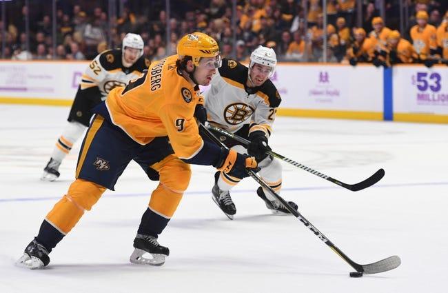 NHL | Nashville Predators (22-12-2) at Boston Bruins (19-12-4)