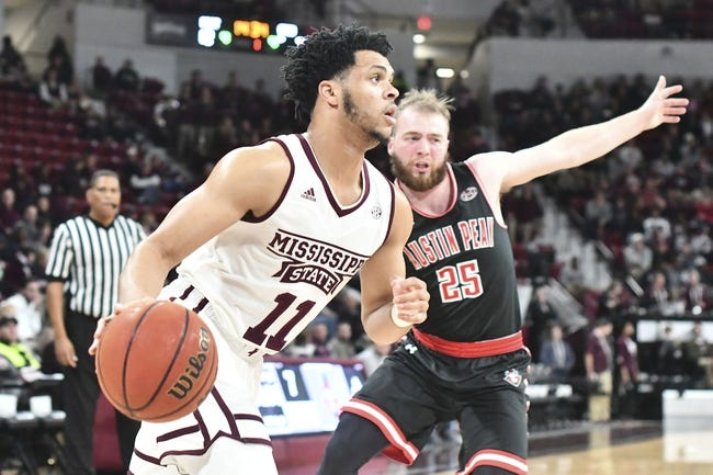 NCAA BB | Wofford Terriers (9-3) at Mississippi State Bulldogs (9-1)
