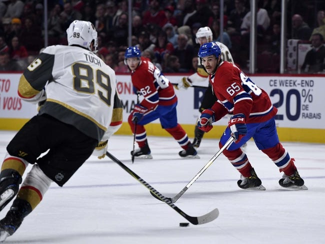 NHL | Montreal Canadiens (18-13-5) at Vegas Golden Knights (20-15-2)