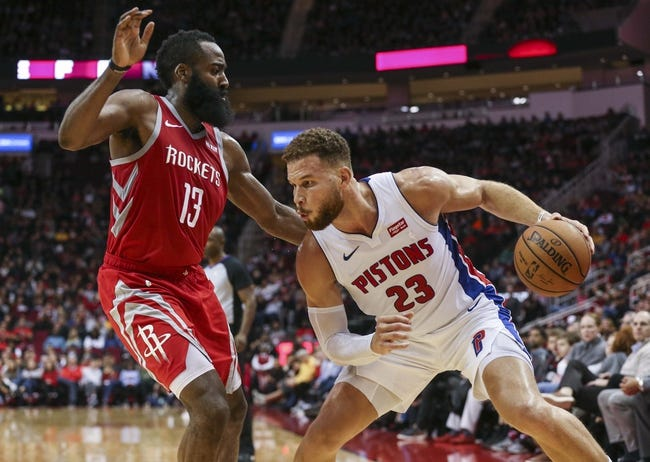 Detroit Pistons vs. Houston Rockets - 11/23/18 NBA Pick, Odds, and Prediction