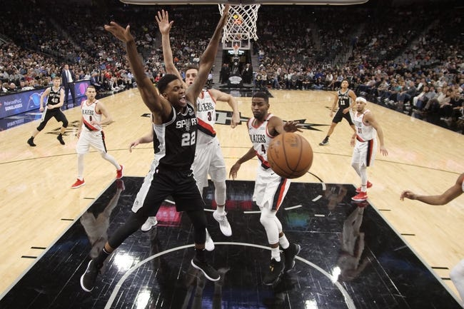 NBA   San Antonio Spurs at Portland Trail Blazers