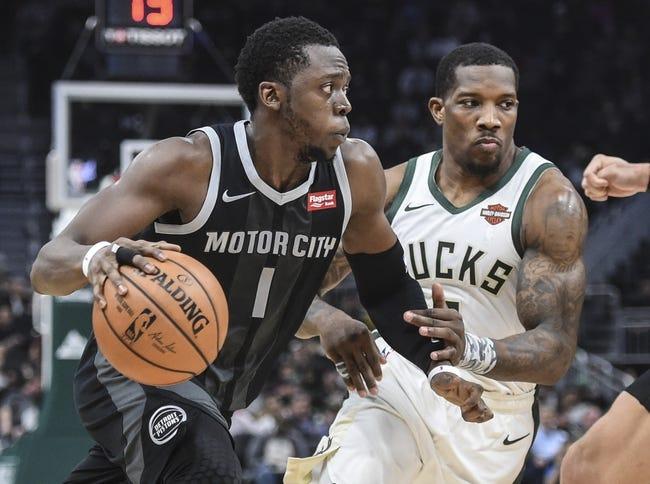 NBA | Milwaukee Bucks (19-9) at Detroit Pistons (14-13)