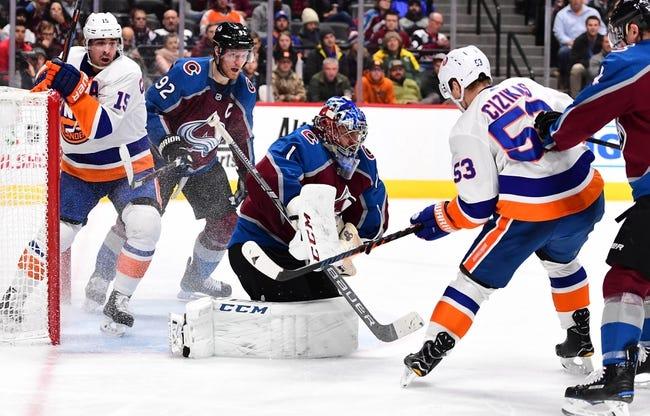 NHL   Colorado Avalanche at New York Islanders