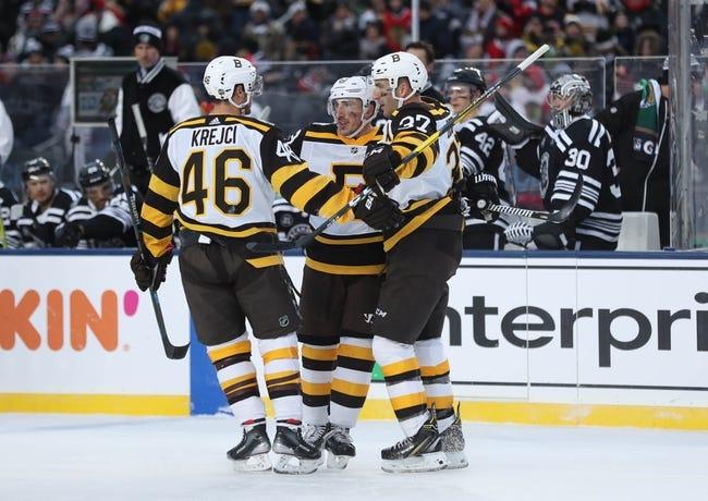 NHL   Chicago Blackhawks at Boston Bruins