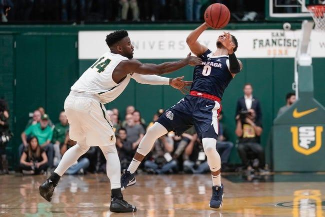 NCAA BB | San Francisco at Gonzaga