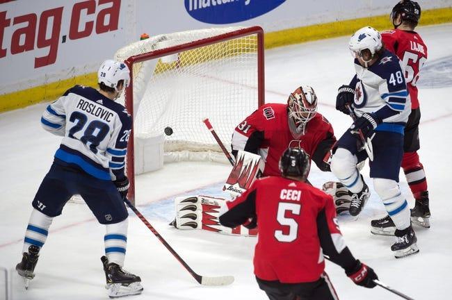 NHL   Ottawa Senators at Winnipeg Jets
