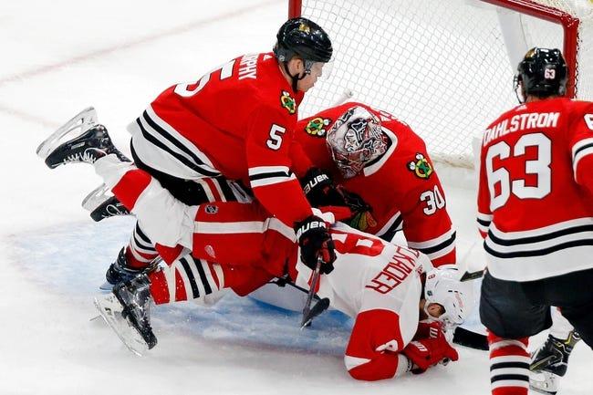 NHL   Chicago Blackhawks at Detroit Red Wings