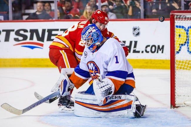 NHL   Calgary Flames at New York Islanders